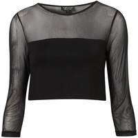 Mesh Crop Top - Topshop