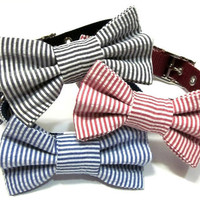 Choose your Style Matching Dog Collar Bow  Bowtie by ChloesCollars