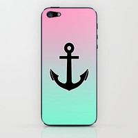 Pink tiffany fade Anchor iPhone &amp; iPod Skin by Rex Lambo | Society6