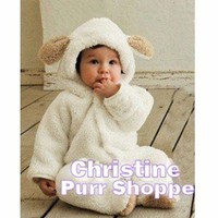 White Lamb Festive Baby Romper 12mos and Up!