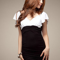 White Skinny Bared Back Ladies Dresses : Wholesaleclothing4u.com