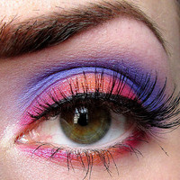 Get this look 4 pc set (Dahlia, Going Bananas, OrangeUGlad, Shacked Up) Eyeshadow Mineral makeup Eye shadow Eyeliner (5g)