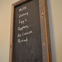 Rustic framed chalk board by decoratelier on Etsy