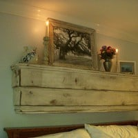 Wood Wall Shelf Ledge Shabby Chic French by honeystreasures