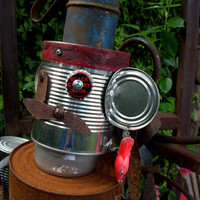 Handcrafted Tin Man Pirate Rustic Home Decor by honeystreasures