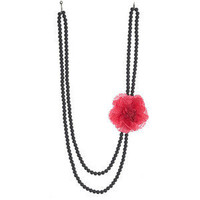 Pink Flower Corsage On Beads - Miss Selfridge - Polyvore
