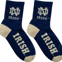 Notre Dame Fighting Irish Team Color Quarter Socks