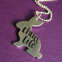 Thug Life Bunny Necklace - Spiffing Jewelry