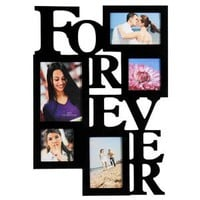Amazon.com: 12AD001-B ADECO 5 Opening FOREVER Black Wood Wall Collage Photo Picture Frame Wall Art, Holds Two 4x6, Two 4x4 Inch, and One 5x7 Inch Photos Great Gift: Home &amp; Kitchen