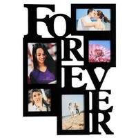 Amazon.com: 12AD001-B ADECO 5 Opening FOREVER Black Wood Wall Collage Photo Picture Frame Wall Art, Holds Two 4x6, Two 4x4 Inch, and One 5x7 Inch Photos Great Gift: Home & Kitchen
