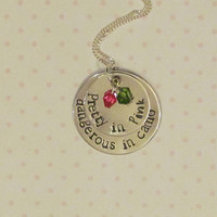 Country Girl Necklace  Pretty in Pink by ExpressionsStamped