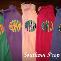 Comfort Colors Brand Applique' Circle by SouthernPrepCo on Etsy