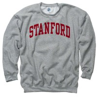 Stanford Cardinal Youth Grey Arch Crewneck Sweatshirt