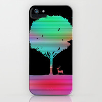 Mystic Tree- Black iPhone Case by Dale Keys | Society6