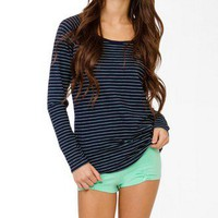 Striped Shirred PJ Set | FOREVER 21 - 2021839393