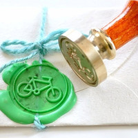 Bicycle Gold Plated Wax Seal Stamp x 1