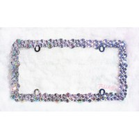 BLING Crystal AB color Rhinestone license plate frame