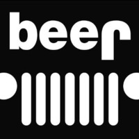Jeep Funny beer Die Cut Vinyl Decal Sticker 6