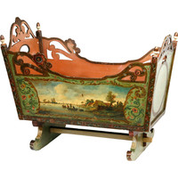 19th Century Dutch painted Cradle at 1stdibs