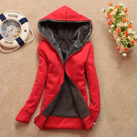 Stylish Womens Warm Long Sleeve Casual Hoodie Outwear