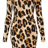 Animal Print Bodycon Dress - Dresses - Clothing - Topshop