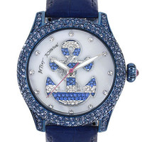 Betsey Johnson Anchor Dial Pav Crystal Watch | Nordstrom