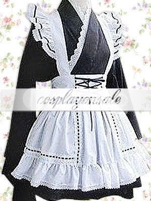 Cotton Black Long Sleeves Lace Hem Cotton Cosplay Lolita Dress [T110408] - $73.00 : Cosplay, Cosplay Costumes, Lolita Dress, Sweet Lolita