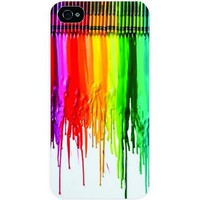 Amazon.com: Tab Dripping colors/ crayon White Hard Snap on Case Cover for Apple Iphone 4 & 4s Universal - Verizon - Sprint - At&t - Great Affordable Gift: Cell Phones & Accessories