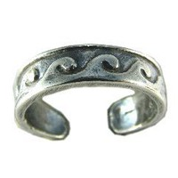 Hawaiian Ocean Waves Sterling Silver Toe Ring: Jewelry: Amazon.com