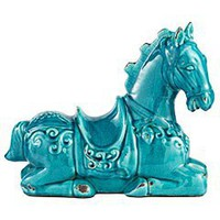 Product Details - Turquoise Ceramic Horse
