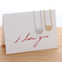 heart PRETZEL necklace, 2 color | girlsluv.it