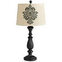 Product Details - Black Damask Print Lamp