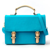 Women's Bright Colors Retro Satchel Small Shoulder Bags Handbag Purses Casual