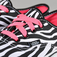 VANS ZEBRA WITH HOT PINK...