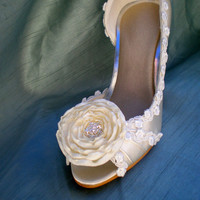 Wedding Shoes -- Flower Wedding shoes -- Pick your color