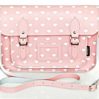 Pink and White Love Hearts Satchel