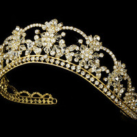 Gold Bridal Tiara from Claudia's Elegant Boutique