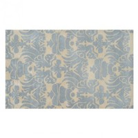 Venice Ivory Blue Wool Tufted Rug