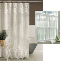 Floret Lace Shower Curtain By Heritage Lace
