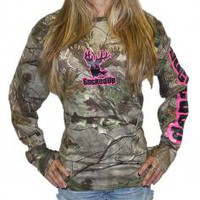 BuckedUp Longsleeve Realtree APG Camo with Pink Logo