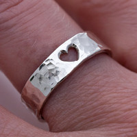 $75.00 Sweet Heart Ring in Sterling Silver by LichenAndLychee on Etsy