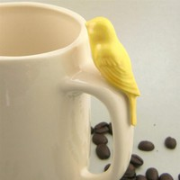 canary mug by laurawallstaylor on Etsy