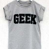 Geek Tee - Grey | BATOKO