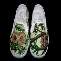 Hand Painted Vans - Owls