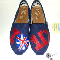 One Direction Painted TOMS Version 2