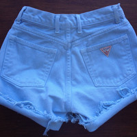 Pastel Blue High Waisted Shorts