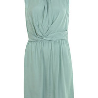 Mint Wrap Waist Pintuck Dress - New In - Miss Selfridge US