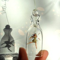 Little green Fairy Holidays ornament Miniature under by HoKiou