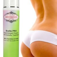 Svelte PRO Supercharged Organic Anti-Cellulite Treatment with L'Carnitine, CoQ10 and 25 Fat Fightin
