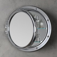 Porthole Mirrored Medicine Cabinet